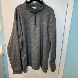 Men's Columbia gray quarter zip up pullover, XXL